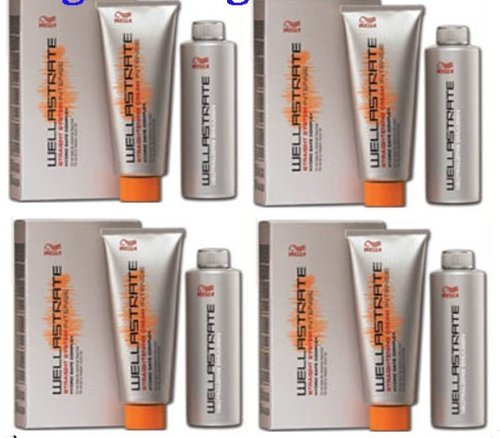4 BOXES WELLA STRATE WELLASTRATE INTENSE STRAIGHTENER STRAIGHTENING HAIR CREAM