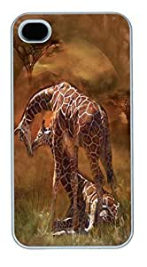 IPhone 4S Cases Giraffe Sunset Polycarbonate Hard Case Back Cover for iPhone 4/4S White