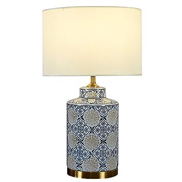 YJFFAN Lámpara de Mesa de cerámica Simple y Moderna de Cobre ...