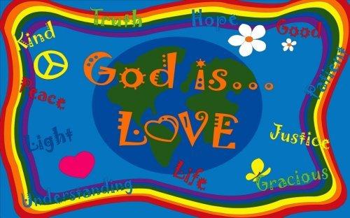 Kid Carpet FE765-22A God Is Love Nylon Area Rug 4' x 6' Multicolored [並行輸入品] B07HLHKC9Y