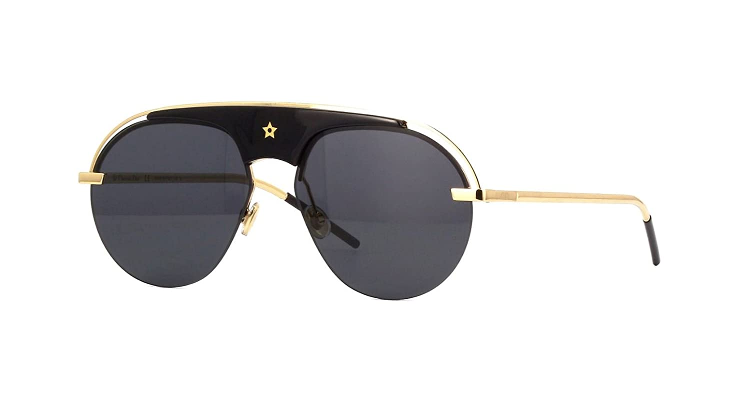 540ca658d61 Amazon.com  Authentic Christian Dior DIO(R) EVOLUTION 2M2 2K Black Gold  Sunglasses  Clothing