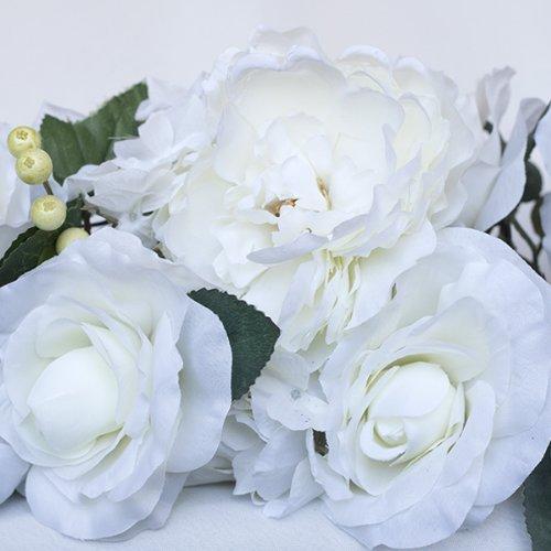 50'' long Cream Silk Flowers Swag by BalsaCircle