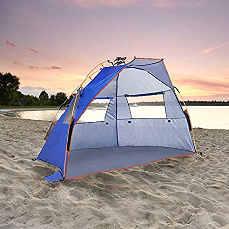 timeless design 0cdb7 aca47 Qwest Instant Pop Up Beach Tent, Outdoor Sun Shade Canopy Shelter,Camping  Canopy