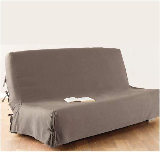 Funda de sofá cama clic-clac - 100% algodón - Color TOPO
