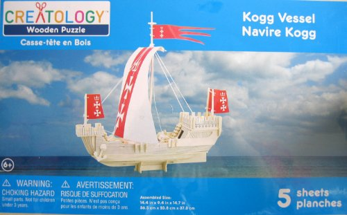 - Creatology Wooden Puzzle: Kogg Vessel 3-D Wood Sail Boat Puzzle