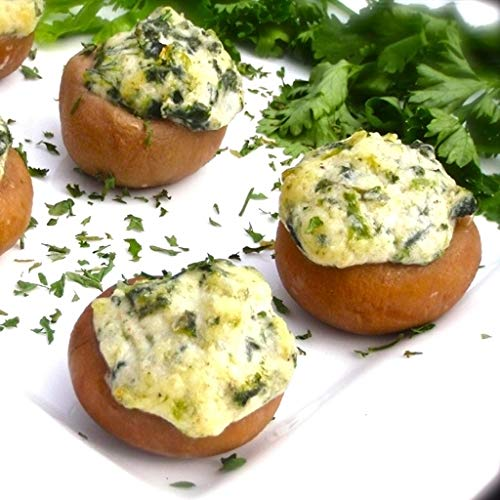 (Order on wholesale Boursin & Spinach Stuffed Mushroom - Gourmet Frozen Appetizers (Set of 8 Tray))