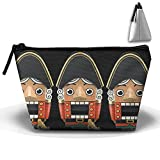 Nutcracker Ballet Christmas Cosmetic Bags Travel Organizer Pencil Case Portable Storage Pouch Bag Make-up Travel Bag Lightweight Hanging Sewing Kit For Women Teens Girls Men Gifts