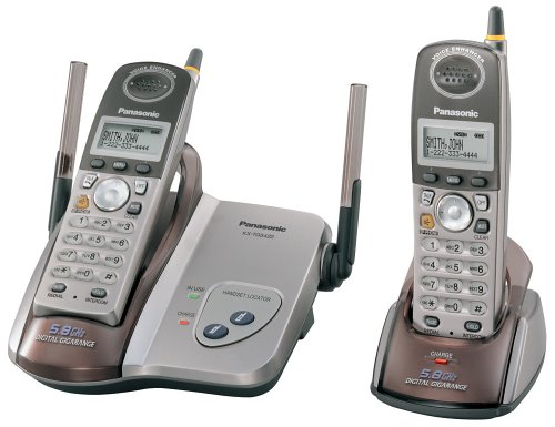 Panasonic KX-TG5422M 5.8 GHz DSS Cordless Phone with Dual Handsets Dual Handset Cordless Phone