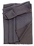 Elizabetta Men's Heavy Thick Silk Twill Italian Reversible Scarf-Black
