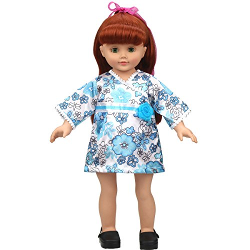 Glitterstar Handmade Doll Clothes Blue Japanese Kimono Doll Clothes&colthing&dress for 18
