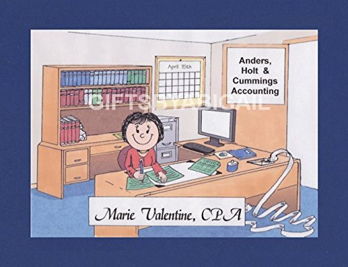 CPA Personalized Gift Custom Cartoon Print 8x10, 9x12 Magnet or Keychain by giftsbyabigail (Image #6)