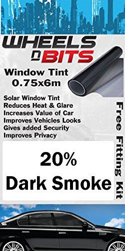 Jaguar X-Type S-Type Window Tint 0.75 x 6M Roll 20% Dark Smoke Solar Film UV Tint Wheels N Bits