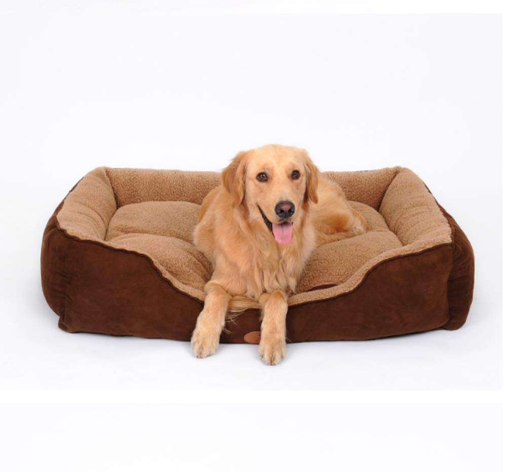 XL Pet Nest Dirty Large Kennel Dog Bed Brown Suede Breathable Warmable Removable Washable Four Seasons Available