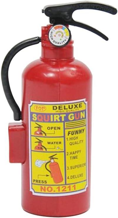 Toyvian Juguete novedoso Extintor de Incendios Pistola de Agua Juguete Playa de Verano Baño Nadar Juguete para niños Jugar Niños Niños Chicas Juguetes de Regalo (Rojo)