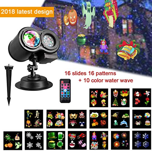 CbMoun Halloween Christmas Decorative Lighting Projectors Lights, 2-in-1