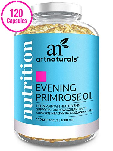 ArtNaturals Evening Primrose Oil Softgels (120 Capsules - 1,000mg) - Hormone Balance for Women - PMS, Menopause Relief and Hot Flash Supplements - Non-GMO and Gluten Free