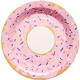 10 bonita Platos de papel de la serie DOLCE Donut Multicolor