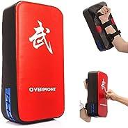 Overmont Taekwondo Kick Pads Boxing Karate Pad PU Leather Muay Thai MMA Martial Art Kickboxing Punch Mitts Pun