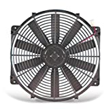 Flex-a-lite 114 Black 14'' Trimline Electric Fan (reversible)