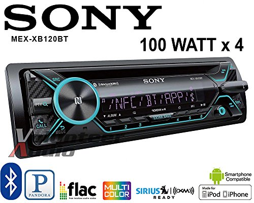 Price comparison product image Volunteer Audio Sony MEX-XB120BT Car Stereo Single Din Radio with Bluetooth,  CD Player,  100W x 4 Built-in Amplifier