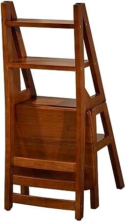 Escaleras plegables Cocina Silla De Comedor, Hogar Silla Plegable Escalera, Doble Uso Escalera De Mano, Escalera De Madera, Interior Y Exterior Subida De Escaleras: Amazon.es: Hogar