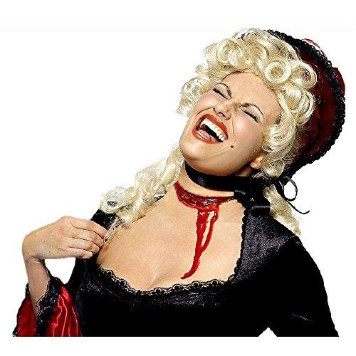 Slashed Throat Costume Makeup Fake Slit Gash Appliance & Blood Halloween Scary (Fake Gashes Halloween)