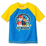 Paw Patrol Little Boys Rash Guard Yellow/Blue (3T)