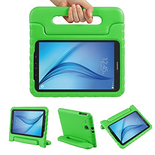 Color Our Life Samsung Galaxy Tab E 9.6 Kiddie Case-Shockproof Light Weight Convertible Handle Stand Cover for Samsung Galaxy Tab E/ Tab E Nook 9.6 Inch Tablet-Green