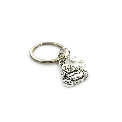 Silver Knight - Llavero de Buda Personalizable con diseño de ...