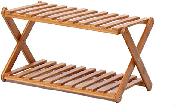 gzz Nordic 2-Tier Bamboo Natural Madera Simple Zapatero plegable Soporte para estante Organizador de almacenamiento Estante multifuncional para pasillo Baño Sala de estar: Amazon.es: Bricolaje y herramientas