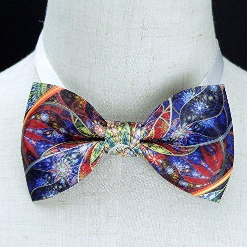 Kaleidoscope Bow Tie,handmade bow tie, personalize bow tie, pre tied bow tie,