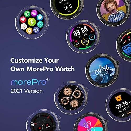 MorePro Smart Watch 20 Sport Modes Fitness Tracker Health Watch Body Temperature, Activity Tracker with Heart Rate Blood Pressure Sleep Monitor, IP68 Waterproof Smartwatch for Women Men 6
