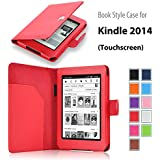 """Elsse For Kindle 6"""" Glare Free - Folio Case Cover for Kindle (7th Generation), Red - will not fit previous generation Kindle devices"""