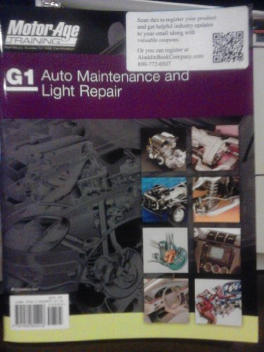 By Motor Age Staff ASE G1 Study Guide - Auto Maintenance and Light Repair (Motor Age Training) [Paperback] (Auto Maintenance And Light Repair Certification Test G1)
