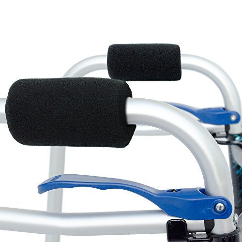 Universal Walker Hand Grip Covers - Luxurious Soft Fleece with Sculpted Memory Foam Cores (Classic ()
