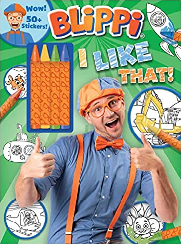 Blippi I Like That Coloring Book With Crayons Blippi