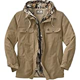 Legendary Whitetails Men's Voyager Hooded Shirt Jacket Oak Large