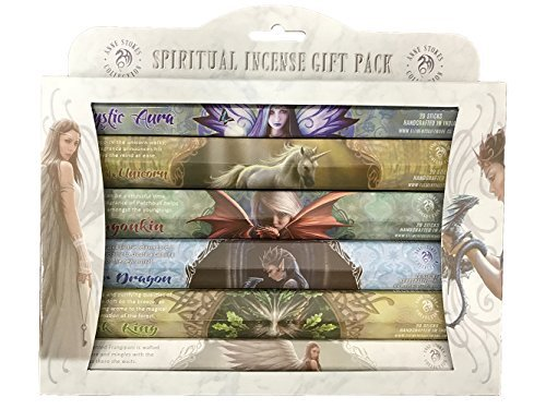 Pacific Giftware Fantasy Artist Anne Stokes Spiritual Aromatic 120 Incense Sticks Gift Pack Assortment (6 Tubes x 20 Incense (Incense Stick Display Pack)
