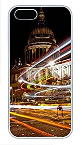 iPhone 5 5S Case Christmas Lights in London PC Custom iPhone 5 5S Case Cover White