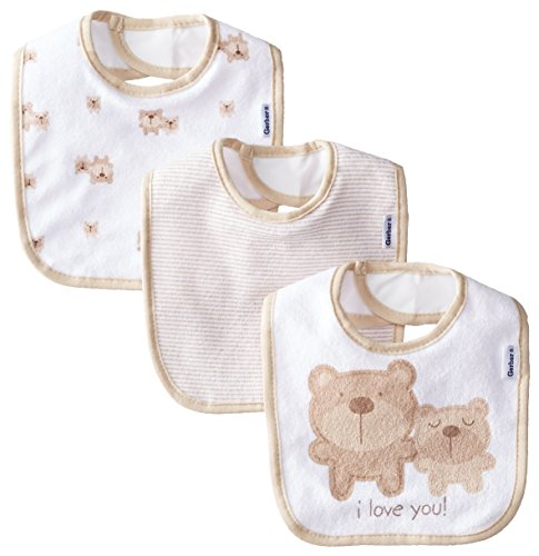 gerber-unisex-baby-newborn-3-pack-terry-bib-bear-brown-one-size