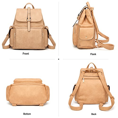 Women's Multifunctional Brown Handbag Leather Travel Bag Shoulder Backpacks Backpack Tisdaini 6ROwnxx