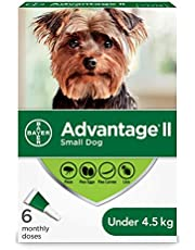 Advantage II Flea Treatment for Small Dogs weighing less than 4.5 kg (less than 10 lbs.)