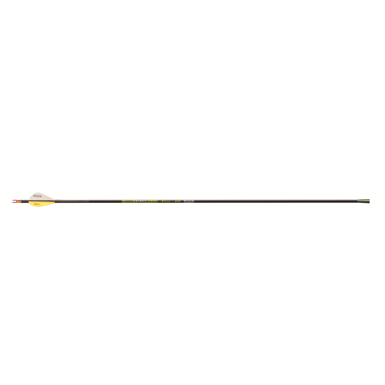 Victory Archery .001 350 Fletched VAP Elite Arrows (Pack of 12), Black