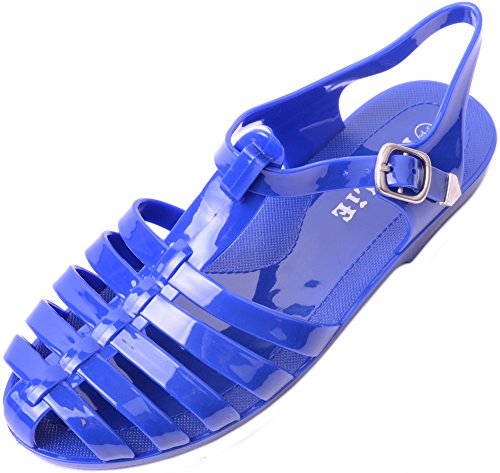 Holiday Womens Sandals (ABSOLUTE FOOTWEAR Ladies/Womens Summer/Holiday / Beach Casual Jelly Sandals/Flip Flops/Shoes - Blue - US 5)