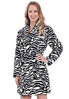 Patricia Womens Knee Length Ultrasoft Plush Shawl Collar Robe with Tie
