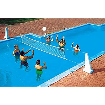 NEW Pool Jam In Ground Valleyball/Basketball Net Combo: Toys & Games