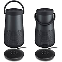 Bose SoundLink Revolve+ Bluetooth Speaker, Triple Black - Pair for a True Stereo Sound w/ Charging Cradles - Bundle