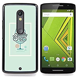 - Drink Poster Cocktail Green Wine - - Snap-On Rugged Hard Cover Case Funny HouseFOR Motorola Verizon DROID MAXX 2 / Moto X Play