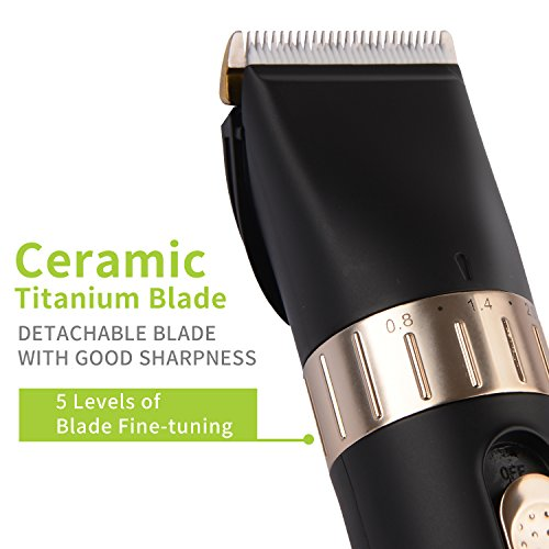 BESTBOMG Cordless Hair Clipper Kit for Men,Speed Adjustable Hair Trimmer with Ceramic Blade,Rechargeable Hair Cutting Machine with 8 Guide Combs Used for Family Hairdressing by BESTBOMG (Image #1)
