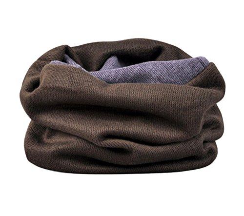 Nanxson(TM) Unisex Solid Color Warm Neck Warmer/ Gaiter/ Wrap/ Scarf WJ0091 (L, coffee)